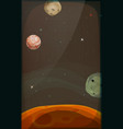 space background with planets and stars for mobile vector image vector image