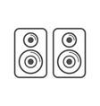 speaker stereo simple icon white design vector image