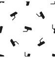 surveillance camera pattern seamless black vector image vector image
