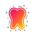 tooth enamel protection sign icon dental care vector image