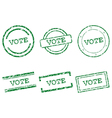 Vote stamps vector image vector image