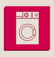 washing machine sign grayscale version of vector image vector image