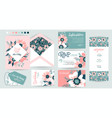 wedding invite invitation details menu vector image vector image