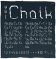 wet chalk cyrillic and latin alphabet set of vector image