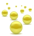 Yellow Pearls vector image vector image