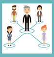 leadership concept - workers are subject leader vector image