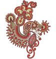 hand draw ornate doodle flower design vector image