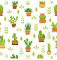 desert plants with flowers cactus in pots vector image