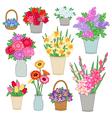 flower shop set vector image
