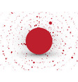 abstract red circle dots background vector image vector image