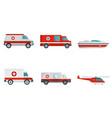 ambulance transport banner concept set vector image