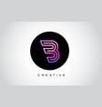 b letter monogram logo design modern b icon vector image