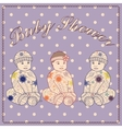 Baby shower triplets two boys and girl vector image vector image