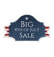 Big 4th of July Sale Banner with Ribbon vector image vector image