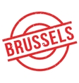 Brussels rubber stamp vector image