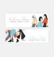 bundle web banner templates for fashion show vector image