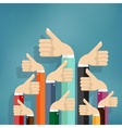 Business people holding many thumbs up vector image