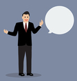 Businessman talking with body language vector image vector image