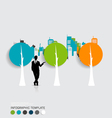 Businessman with infographics template and vector image vector image