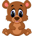 cartoon teddy bear waving hand vector image