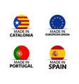 catalonia european union portuguese spain stickers vector image vector image