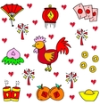 Chinese celebration of doodles vector image vector image