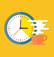 Coffee time concept Flat design stylish Isolated vector image vector image