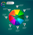 color volumetric info graphics for business vector image vector image