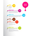 Colorful Infographic timeline report template with vector image