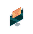 computer email message correspondence mail vector image