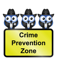 CRIME ZONE USA vector image vector image