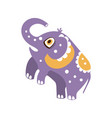 cute cartoon elephant character standing on hind vector image