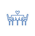 date in the restaurant line icon concept date in vector image vector image