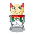 devil cartoon baby sitting in the highchair vector image vector image