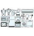 Electronic devices used in the kitchen vector image vector image