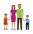 family people standing together father mother vector image