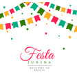 festa junina party carnival background vector image