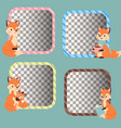 fox character doing different foxy activities vector image