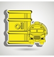 Gasoline truck isolated icon design vector image vector image