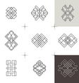 Geometric linear art elements Set of hipster style vector image vector image