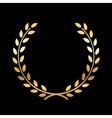 Gold laurel wreath vector image vector image