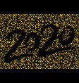golden luxury 2020 happy new year with shining vector image vector image