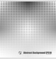 gray dot gradient background vector image vector image
