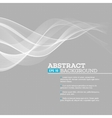 gray wave abstract background vector image vector image