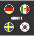 groups football world championship in russia vector image