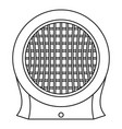 heater icon outline style vector image vector image