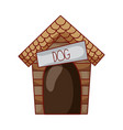 house dog pet cartoon isolated icon design vector image vector image