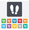 Imprint shoes sign icon Shoe print symbol vector image vector image