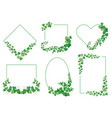 ivy green leaves frames borders from evergreen vector image vector image