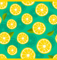 lemon background fresh tropic fruit pattern on vector image vector image